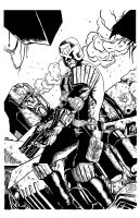 Judge Dredd Inked by thecrow1299