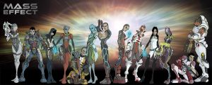 mass effect lineup by UndeadComics