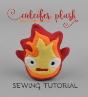 Sewing Tutorial - Calcifer Plush by SewDesuNe