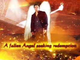 Angel Seeking Redemption Wall by Simply-Dreams