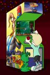 Human!Peter playing an Earthworm Jim arcade game by earthwormjimfan102