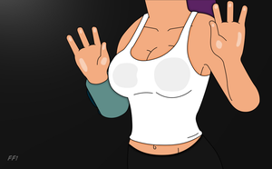 Leela Chest Rub - Wallpaper by FuturamaFreak1