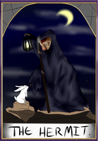 Hermit Tarot Card by HollowThinker