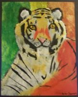 Tiger Painting by LeafyguyDS