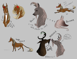 JM Fawnling Sketches by EmeraldTheWolf