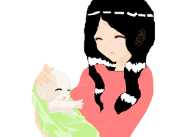 Kahlan and baby Nicholas by JulieMakimot