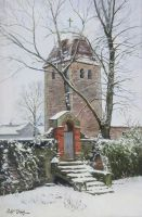 Village Church in Loehme. by Dreamnr9