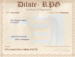 LWs Grand Cleric Callista DXLVII D-RPG Certificate by kagetora4ever