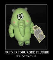 A FRED FREDBURGER PLUSHIE by Kiss-the-Iconist