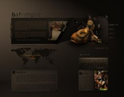 Animals web design series BAT by inankilic