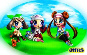 Chibi May And Dawn And Rosa  by GNTS