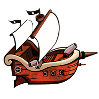 Little Pirate Ship by MetalSlime18