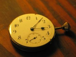 Old pocket watch by LittleBlueStocking