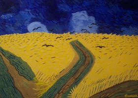WHEAT FIELD-VAN GOGH TRIBUTE by wwwEAMONREILLYdotCOM