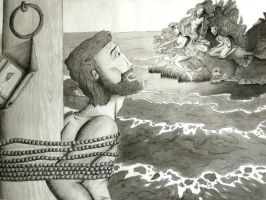 Odysseus and the Sirens by jubilicious