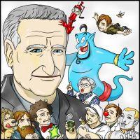 Robin Williams by NaguX