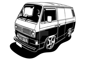VW Transporter Type 25 by flatfourdesign