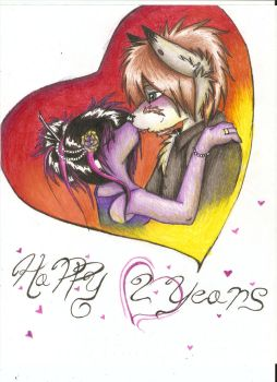 .:Happy 2 Years:. by axlfox