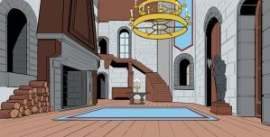 Animation Background - Castle by DGanjamie