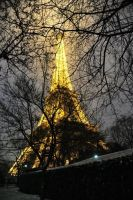 Eiffel Tower-winter lights by springmulberry