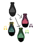How to change simple dress into shiny design by Amela-xD