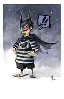 brush test batkid by KARNxJiro