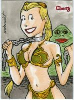 Cherry Slave sketch card commission by mdavidct