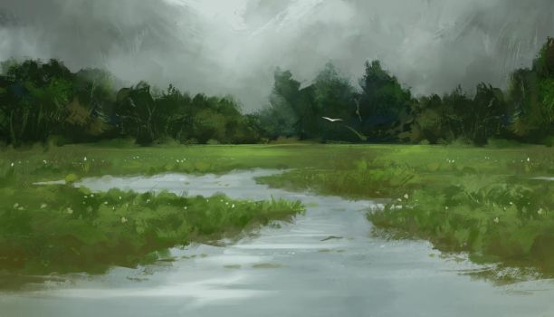 Marshes by ScoffsArt