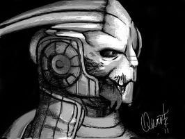 Garrus Cross Hatch by Quartknee