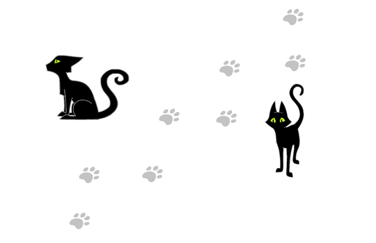 Two black cats by IVISEK