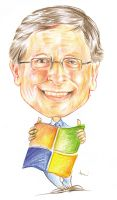 BILL GATES by tonykartun