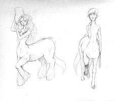 Merida and Hiccup-Centaurs by hiddenwriterspirit