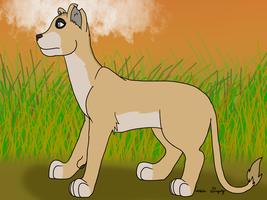 Lion for Kantayeni by The-Smile-Giver