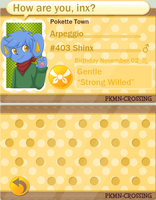 Poke'mon Crossing App Arpeggio UPDATE by FrightFox