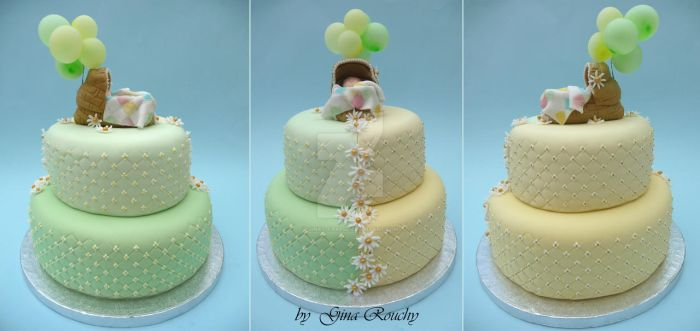 Baby in Cot Cake by ginas-cakes