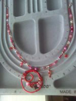 Red and Pink Necklace by twig7998