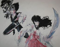 Hiei Vs Kagome by idiotxcrossing656