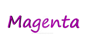 Spinning Text - Magenta by JVanover