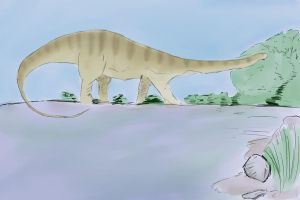 Diplodocus Full Colour by PaultheMediocre