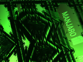 Manjaro Wp Logo On Green by fraterchaos