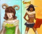 Aries and Tauras by lady-leliel