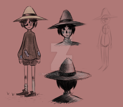 Nathaniel the Scarecrow boy [OC SKETCHES] by Nawkien