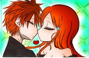 IchiHime Lineart Coloring by razorflame45