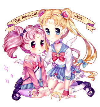 (Fanart) The magical girls! by Smeeow