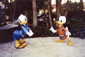Donald and Daisy by MightyMorphinPower4