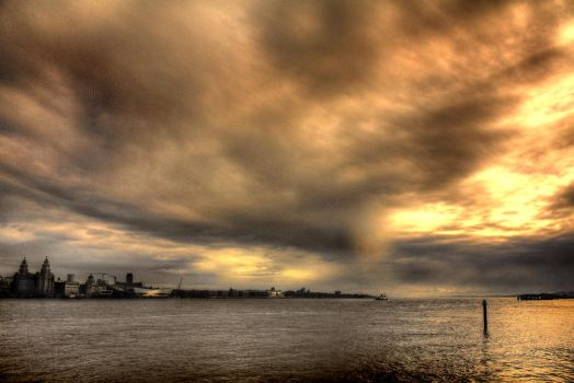 Liverpool River Mersey by BTBPhoto
