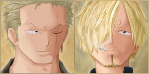 Zorro and Sanji: The Monstertrio - one by iClaimed