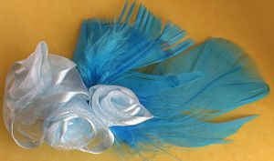 turquoise fascinator by Craftcove