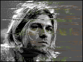 Kurt Cobain Glitch Art by DaddieJay