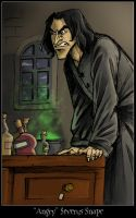 Angry Severus Snape by coffeelover